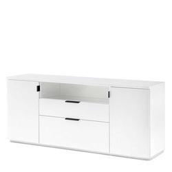 Weißes Sideboard 160 cm breit offenem Fach