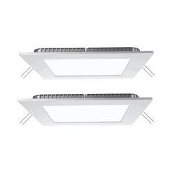 2er Set LED Panels in weiß zur Deckenmontage VT-307