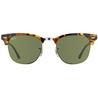 Ray Ban Clubmaster Fleck RB3016 tortoise-black / green classic