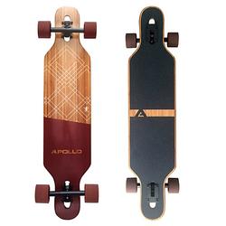 Twin Tip DT Fiberglas Longboard Bali Slide rot/braun
