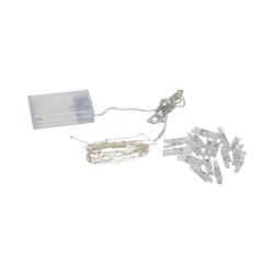STAR TRADING LED-Lichterkette LED Clip Lichterkette - 16 transparente Wäscheklammern - 30 warmweiße LED - 2,9m - Batterie - Timer