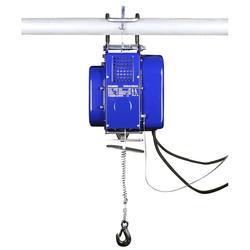Mobile elektrische Seilwinde - Bauseilwinde - Stahlseil 12 m, Tragkraft 150 kg / 300 kg , 230 V