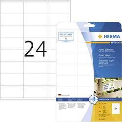 Herma 10905 Etiketten 70 x 36mm Papier Weiß 600 St. Permanent Kraftkleber-Etiketten, Universal-Etik