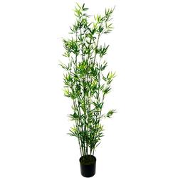 Kunstpflanze Bambus im Topf Bambus, I.GE.A., Höhe 180 cm