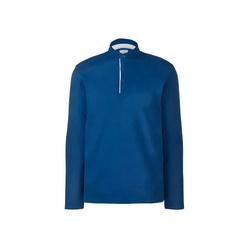 Tchibo - Langarm-Poloshirt Blau - Gr.: M
