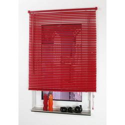Jalousie, Liedeco, mit Bohren, freihängend, Kunststoff rot 110 cm x 160 cm