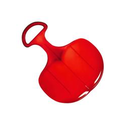 elasto Rutscher Standard, Poporutscher mit Griff, Hochwertiger Schneerutscher aus Kunststoff Made in Germany, Schlitten, Rutscher für groß und klein rot