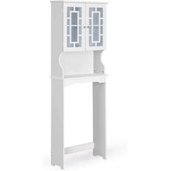 COSTWAY Badregal Badregal Waschmaschinenregal weiß, mit 3 Regalen weiß 22 cm x 170.5 cm x 60 cm