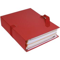 10er-Pack Dokumentenmappe »Papier toillé« rot, EXACOMPTA, 24x32 cm