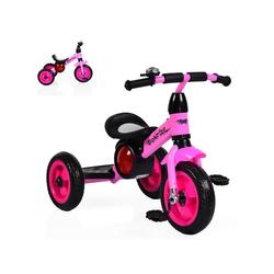 Moni Dreirad Dreirad Bonfire, mit EVA-Reifen, Trittbrett, Musik, Licht, Fahrradklingel rosa