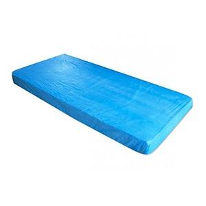Matratzenschoner in der Farbe blau aus CPE   Der Matratzenbezug kann zum Schutz von Schlafunterlagen verwendet werden & ist als Nässeschutz für die Matratze unkompliziert anzuwenden, 10 St.