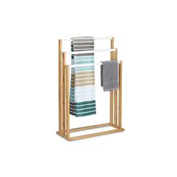 relaxdays Handtuchhalter Bambus Handtuchhalter 3-fach