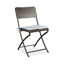 Chaise de jardin pliable pliante Chaise de camping BASTIAN en aspect rotin H x l x P: 82 x 44 x 50
