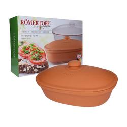 RÖMERTOPF Römertopf Brottopf Keramik Brotkorb oval
