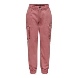 ONLY Einfarbige Cargohose Damen Pink Female 128