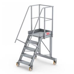 Altrex Podesttreppe fahrbar 60° 5 Stufen