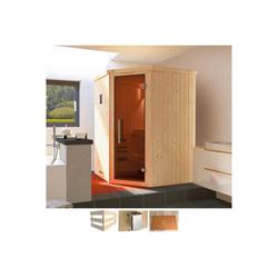weka Sauna Kiruna, BxTxH: 144 x 144 x 199 cm, 68 mm, 3,6 kW Bio-Ofen mit ext. Steuerung