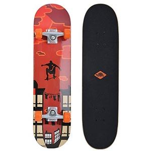 Schildkröt Skateboard Kicker 31, Komplett-Board mit tollen Features für Einsteiger, verschiedene Deck-Designs wählbar, konkave Deckform mit Doppel-Kick, 9-lagiges Ahornholz, ABEC5 Kugellager