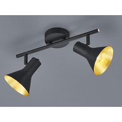 TRIO LED Deckenstrahler, dimmbarer Licht-Spot Strahler rund 2-flammig Retro Decken-Strahler Industrie-Design schwenkbar