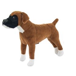 Kösen Kuscheltier Hunde Boxer 15 cm braun-weiß (Stoffboxer Stoffhund, Plüschtiere, Stofftiere, Hunde)