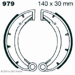 Hi-Q Bremsbacken 979, 140x30mm