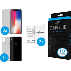 Crocfol Die Folie Fullbody Displayschutzfolie Passend für: Apple iPhone X 1 Set