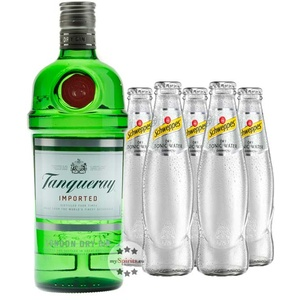Tanqueray London Dry Gin & 5 x Schweppes Dry Tonic