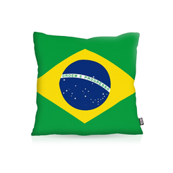 Kissenbezug, VOID, Brasilien Brazil EM WM Flagge Fahne Länderflagge 40 cm x 40 cm