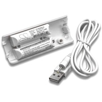 vhbw Akku passend für Nintendo Wii Remote Plus Gamepad (400mAh, 2,4V, NiMH) 400 mAh weiß