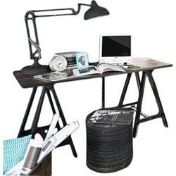 Schreibtisch Svenja 140 x 65 cm braun