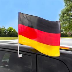 Deutschland Autoflagge / Autofahne 2er Set