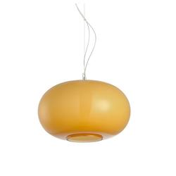 s.LUCE Pendelleuchte Blob M Opalglas Ø 35cm Orange