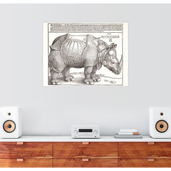 Posterlounge Wandbild, Rhinozeros 80 cm x 60 cm