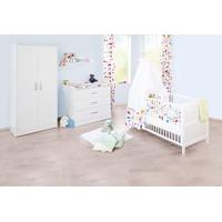 Pinolino Kinderzimmer Viktoria breit mit 2-türigem Schrank 3-tlg. weiß