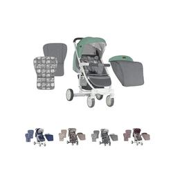 Lorelli Kombi-Kinderwagen Kinderwagen, Buggy S300, mit Fußsack, klappbar, schwenkbare Vorderräder grün