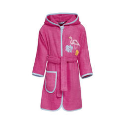 Playshoes Frotte-Bademantel Flamingo pink