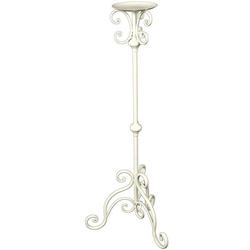 Ambiente Haus Wandkerzenhalter Kerzenständer - antikweis 80cm (1 Stück) weiß