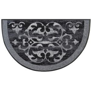 wash+dry by Kleen-Tex Teppich Round Ornaments, rechteckig, 7 mm Höhe, In- und Outdoor geeignet, waschbar, Wohnzimmer grau Esszimmerteppiche Teppiche nach Räumen