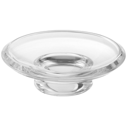 Keuco Seifenschale Smart.2, Ø 11 cm, Echtkristall-Glas, lose