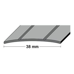 LM-Übergangsschiene B.38mm L.90cm Alu.bronzef.2 Rillen mittig gel.PG