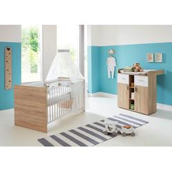 BMG Babymöbel-Set Maxim, (Set, 2-tlg), Bett + Wickelkommode
