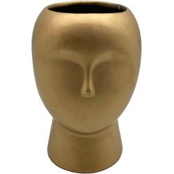 Pflanzschale (1 Stück), in Kopfform, Höhe ca. 17,5 cm