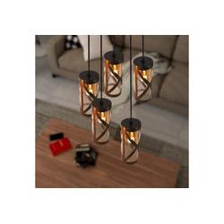 ZMH Pendelleuchte Vintage Hängelampe E14 Esstischlampe aus Glas und Eisen Hängeleuchte Landhausstil