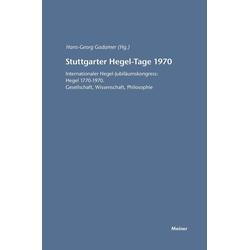 Stuttgarter Hegel-Tage 1970 als Buch von