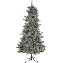Home affaire Künstlicher Weihnachtsbaum, beschneite Äste, Tannenzapfen und Beeren Ø 99 cm x 180 cm