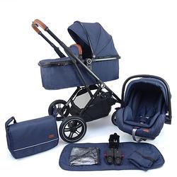 Kinderwagen 3in1 Lania Babywagen blau Gr. bis 15 kg