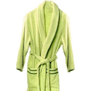 atenas home textile Altea Bademantel aus Baumwoll-Frottee, Gr. M, 100 % Baumwolle, 320 g/m2, Beige/Braun Large Pistaziengrün