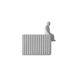 Umarell Wandleuchte - 2700 K - mit sitzender Figur