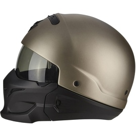 Scorpion Exo Combat Solid Helm Silber S