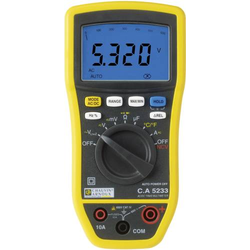 Chauvin Arnoux C.A 5233 Hand-Multimeter digital CAT IV 600V Anzeige (Counts): 6000